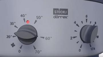 Droogautomaat Stockli met 3 stalen roosters en timer