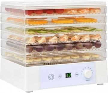 Vida XL Voedseldroger met 6 lades 250 W wit